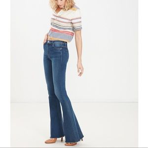 MOTHER JEANS | 26 THE CASTAWAY FRAY WIDE LEG FLAIR